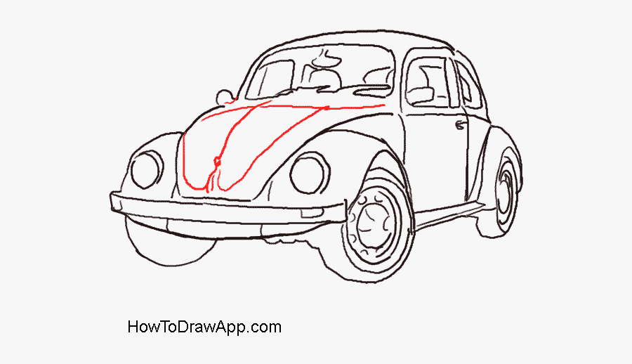 Clip Art Roadrunner Drawings - Gray Car Png Draw, Transparent Clipart