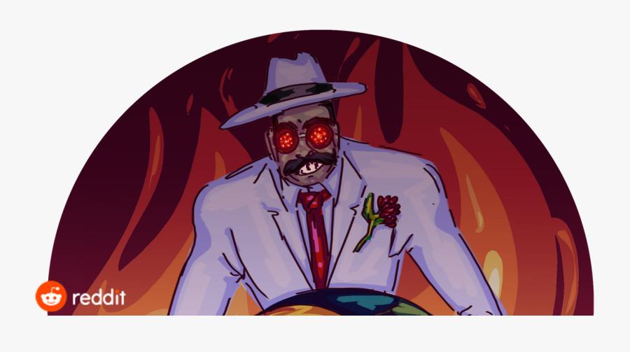 Pizza Demon Bossfightbestiary - Rocky Rococo Man, Transparent Clipart