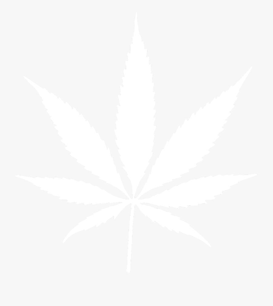 Pot Leaf Weed Leaf- - Blue And White Weed Leaf, Transparent Clipart