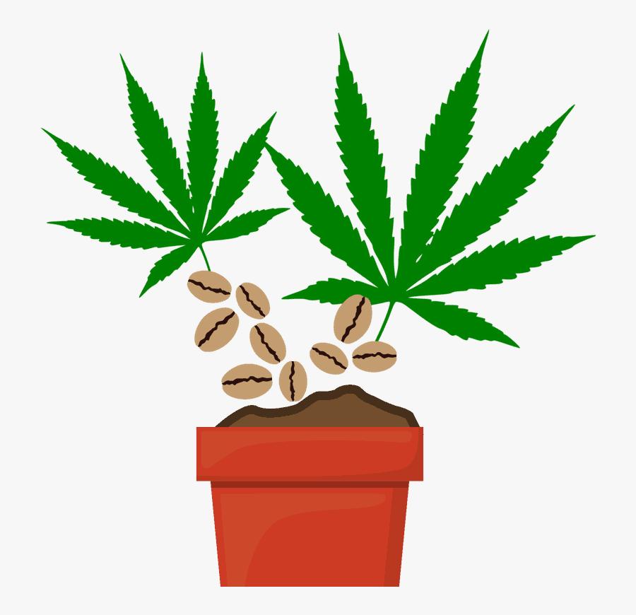 Transparent Marijuana Clipart - Marijuana Leaf Outline, Transparent Clipart