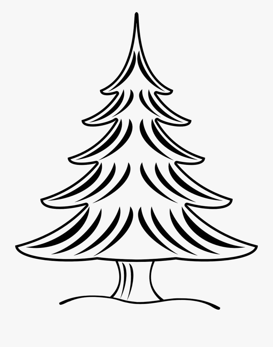 Gambar Sketsa Pohon Natal, Transparent Clipart