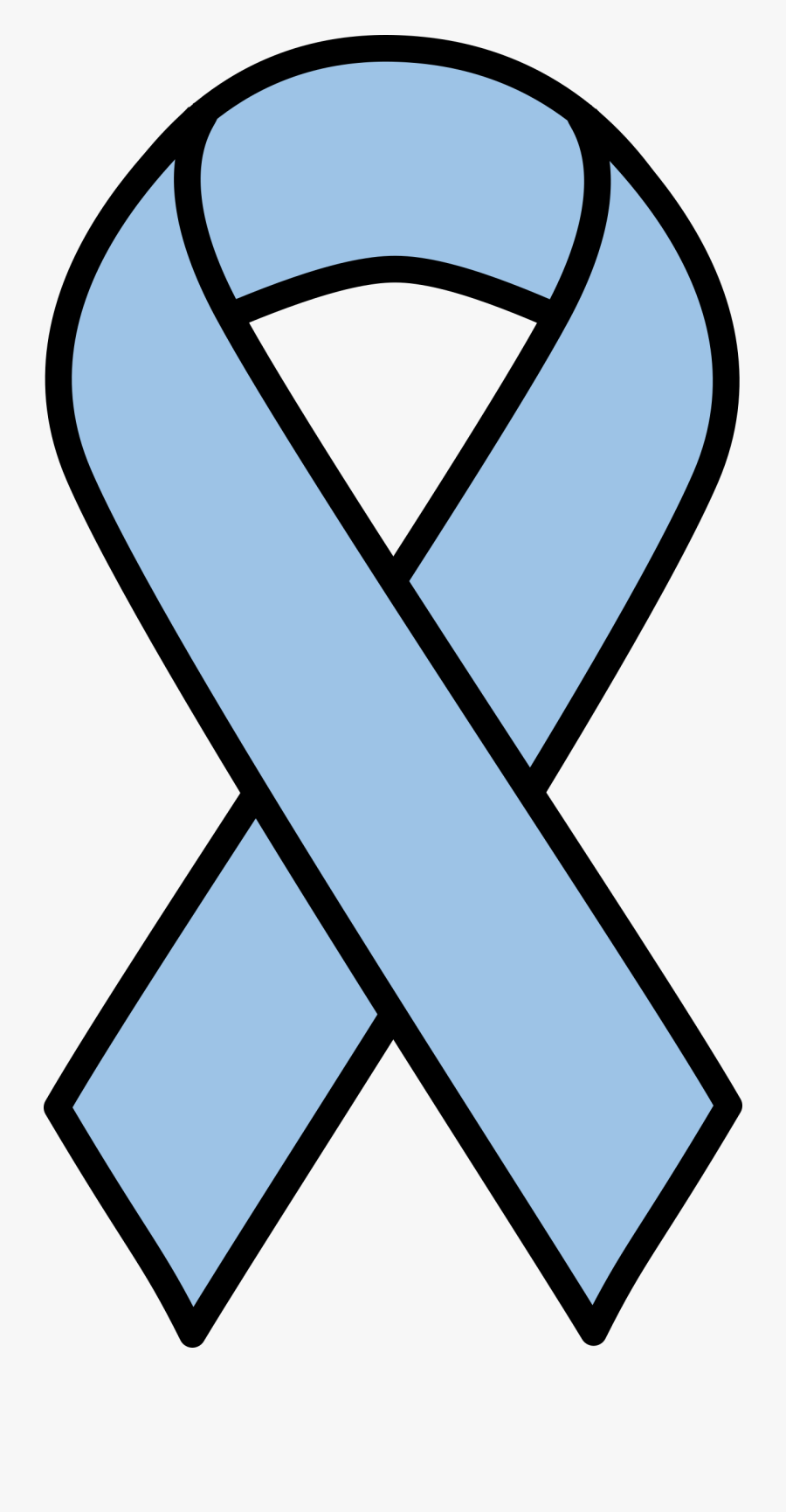 Light Blue Prostate Cancer Ribbon - Clip Art Breast Cancer Ribbon, Transparent Clipart