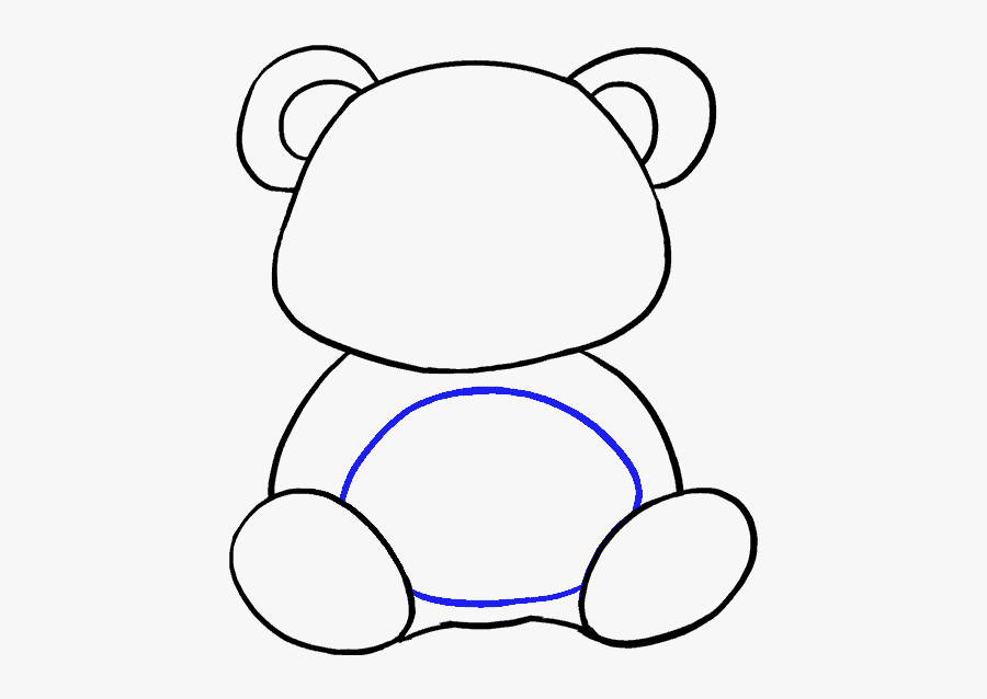 Clip Art How To Draw A Bear Paw - Draw A Baby Panda, Transparent Clipart