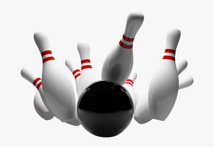Transparent Bowling Strike Clipart - Transparent Background Bowling Pin, Transparent Clipart