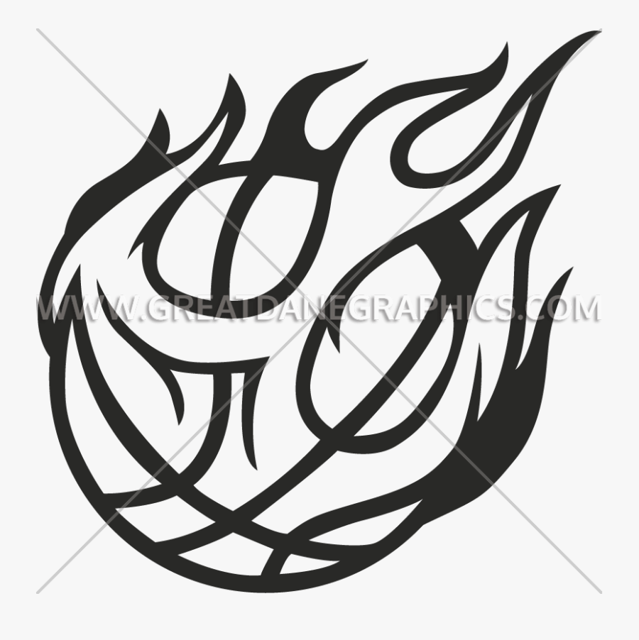 Clip Art Line Art Basketball - Easy Drawing Of A Basketball, Transparent Clipart