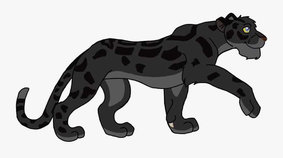 Panther Clipart Body - Clouded Leopard Lion Guard, Transparent Clipart