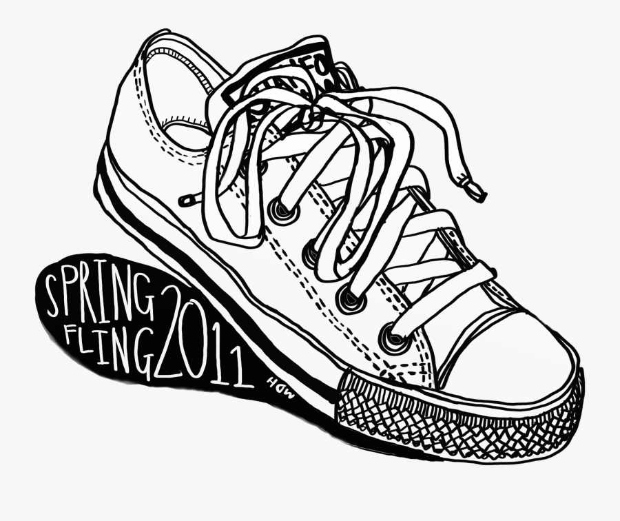 Png Download Shoes At Getdrawings Com - Converse Shoe Pair Drawing, Transparent Clipart