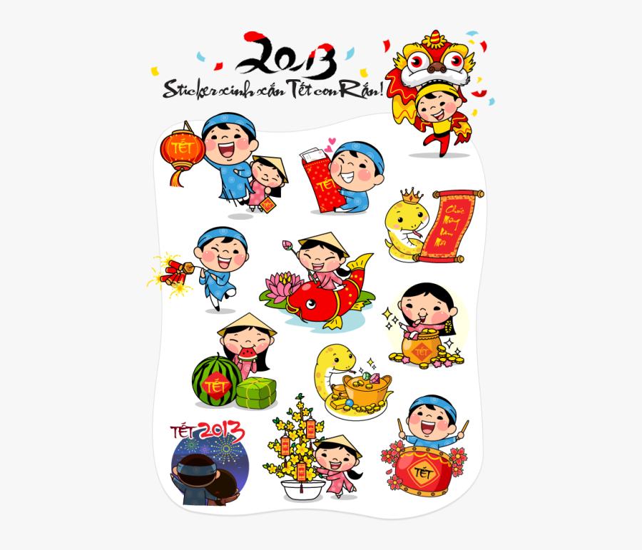 Sticker Lunar New Year, Transparent Clipart
