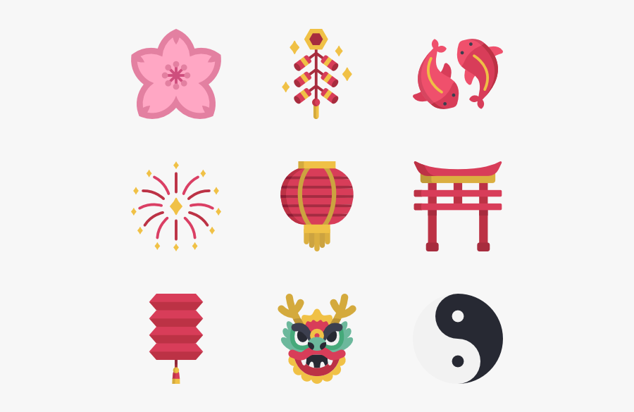 Icons Free Vector - Chinese New Year Icon, Transparent Clipart