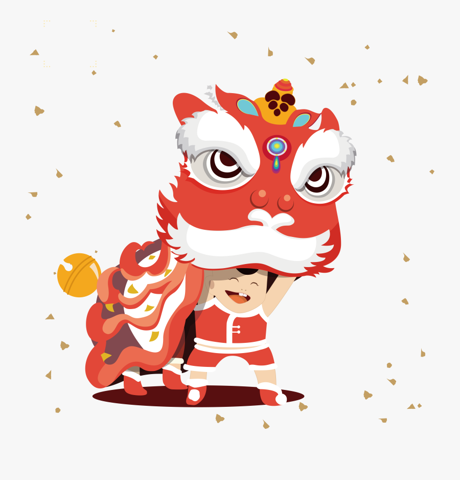 Transparent Chinese Lanterns Clipart - Chinese New Year Lion Clipart, Transparent Clipart