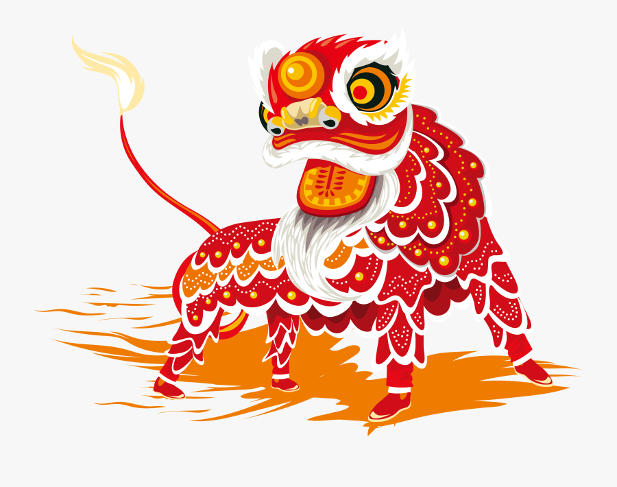 Chinese New Year Lion Dance Dragon Dance - Chinese New Year Dragon Cartoon, Transparent Clipart