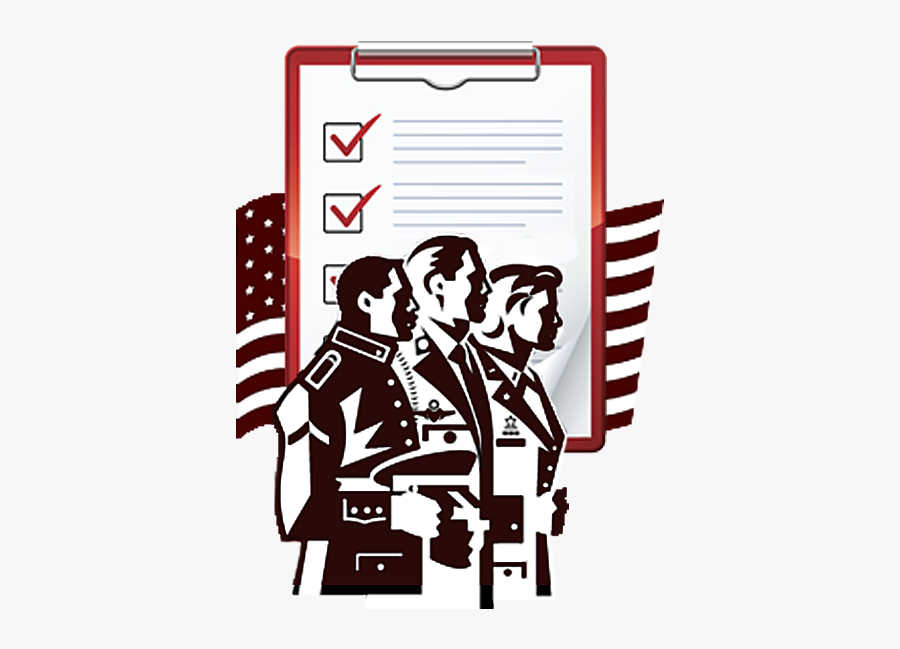 A Clip Art That Theree Servicemembers Stands Side By - Military Mental Health Clipart, Transparent Clipart