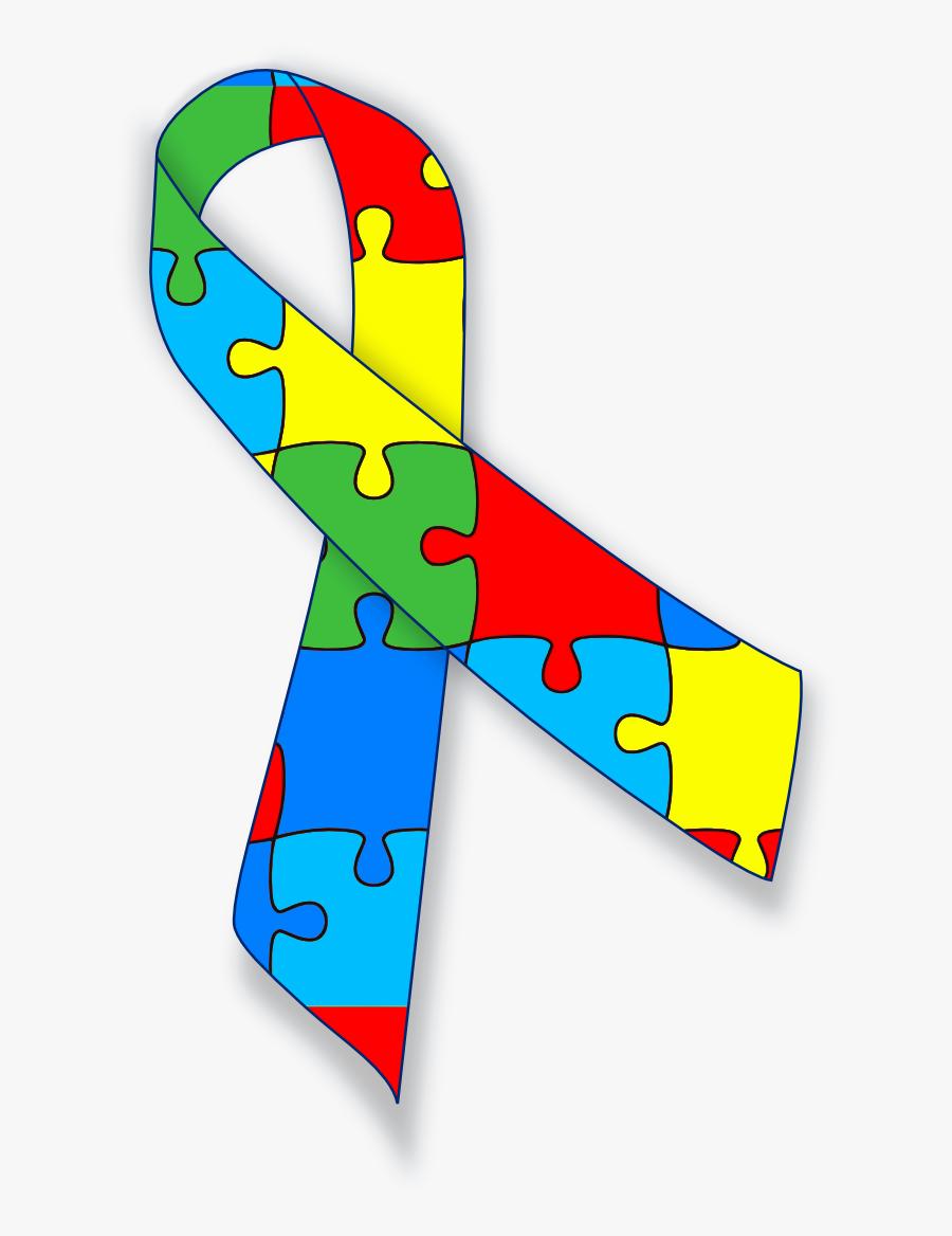 Autism Ribbon Clip Art - Autism Spectrum Disorder Png, Transparent Clipart