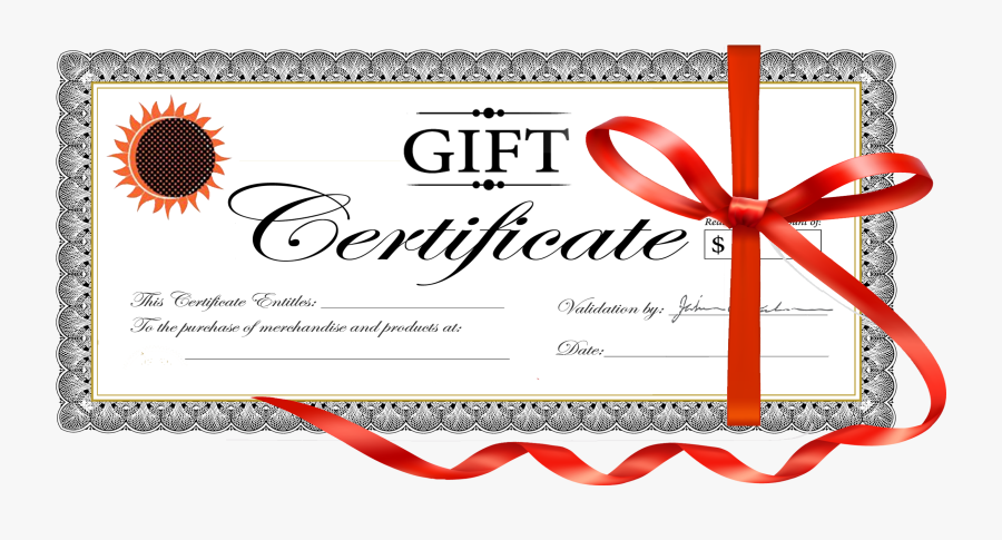 Clip Art Gift Card Template Free - Gift Certificate, Transparent Clipart