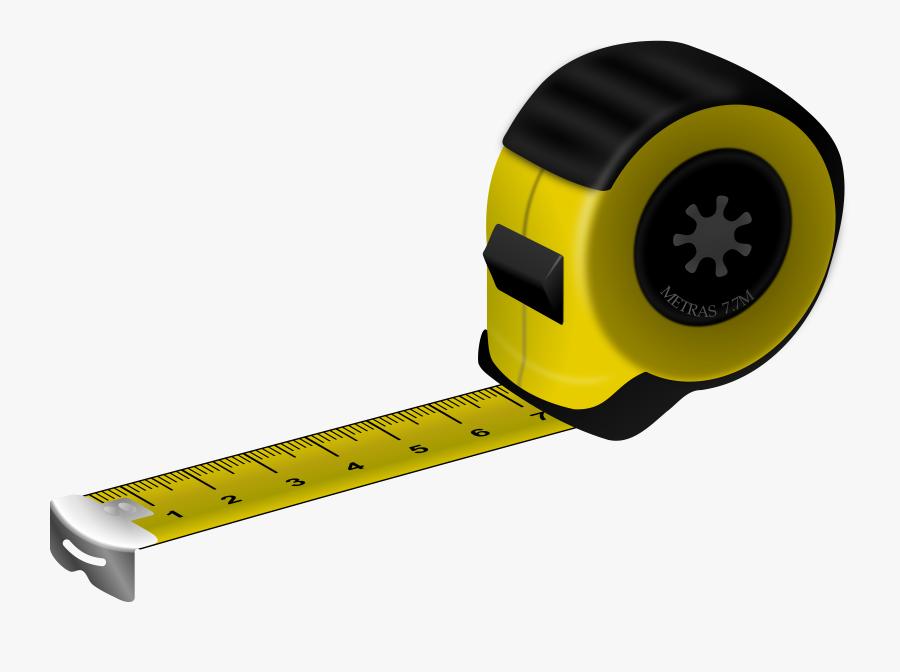 Tape Measures Measurement Measuring Cup Clip Art - Measuring Tape Clip Art, Transparent Clipart