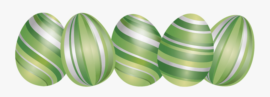 Green Easter Eggs Png, Transparent Clipart