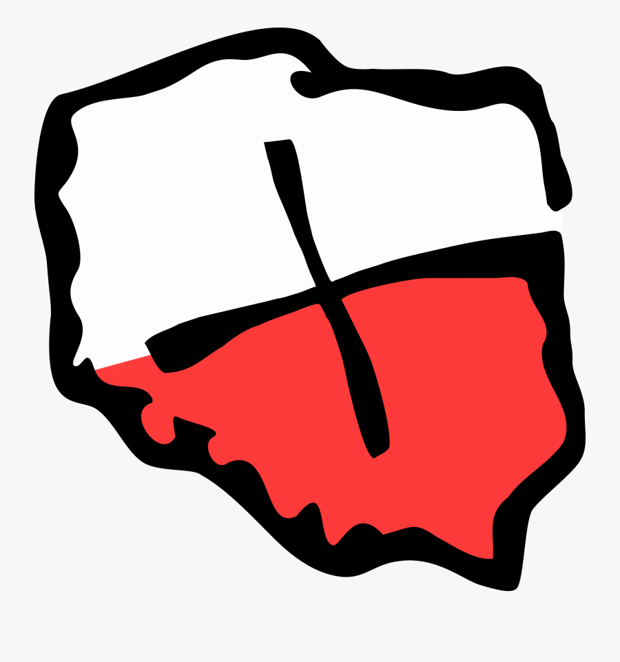 Svg Black And White Geocaching Poland Shape Logo - Shape Of Poland Png, Transparent Clipart