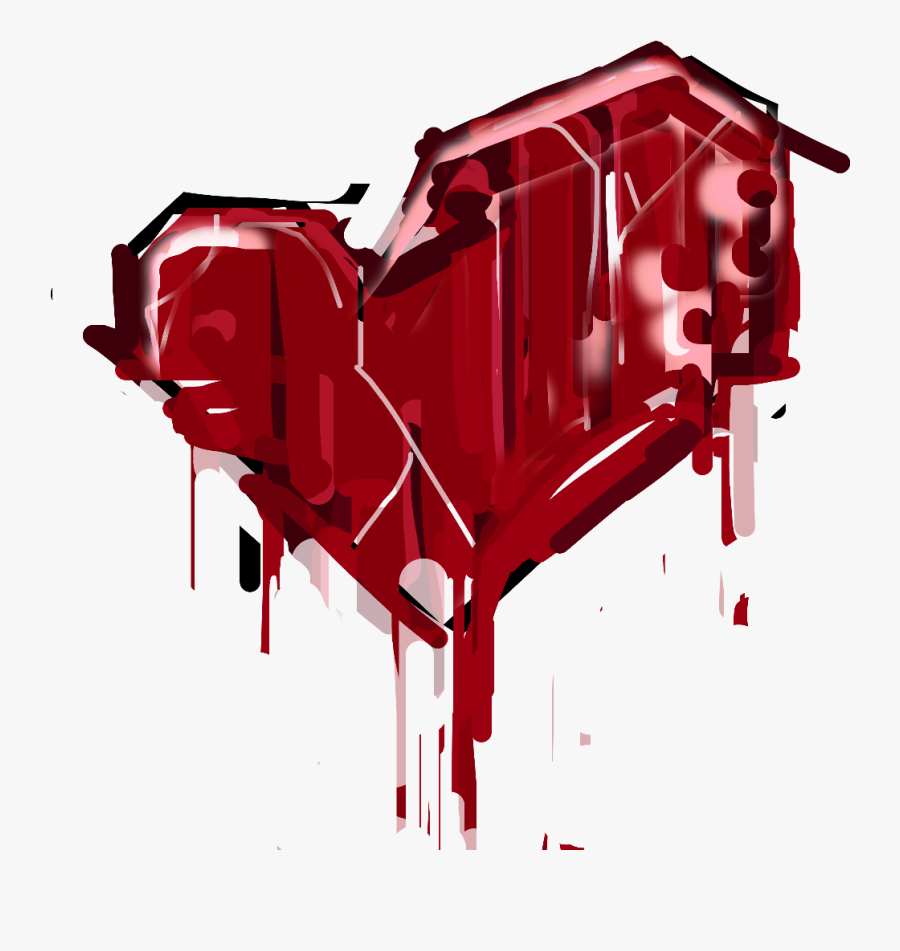 Heartbreak Heart Blood Splatter Graffiti Freetoedit - Mlp Pinkamena, Transparent Clipart