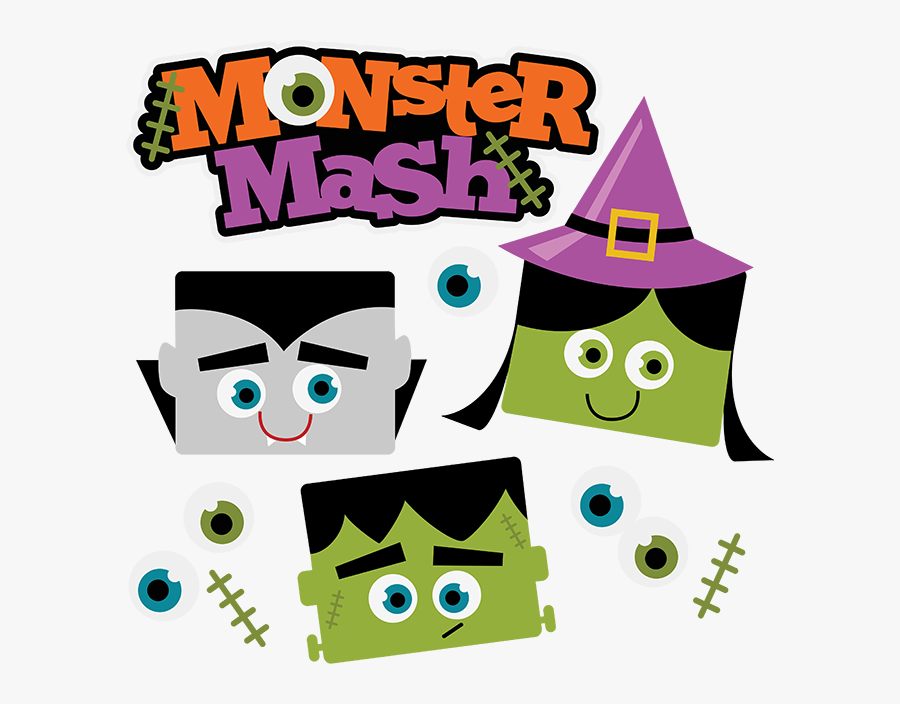 Monster Mash Halloween Svg Scrapbook Collection Vampire Classic Halloween Monsters Cute Free Transparent Clipart Clipartkey