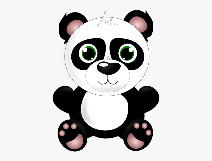 Small To Medium Sized Cats,vertebrate,teddy Bear - Cute Baby Panda Clipart, Transparent Clipart
