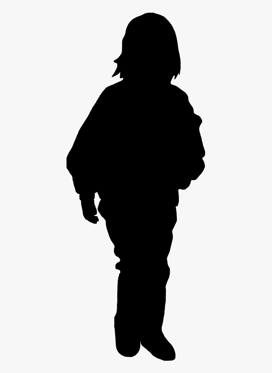 Girl Silhouette Running Black - Woman Back Silhouette Png, Transparent Clipart