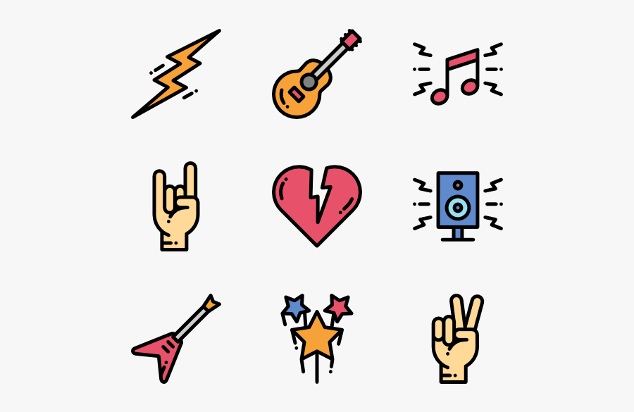 Collection Of Free Rocks Drawing Rock N Roll Download - Rock N Roll Symbols, Transparent Clipart