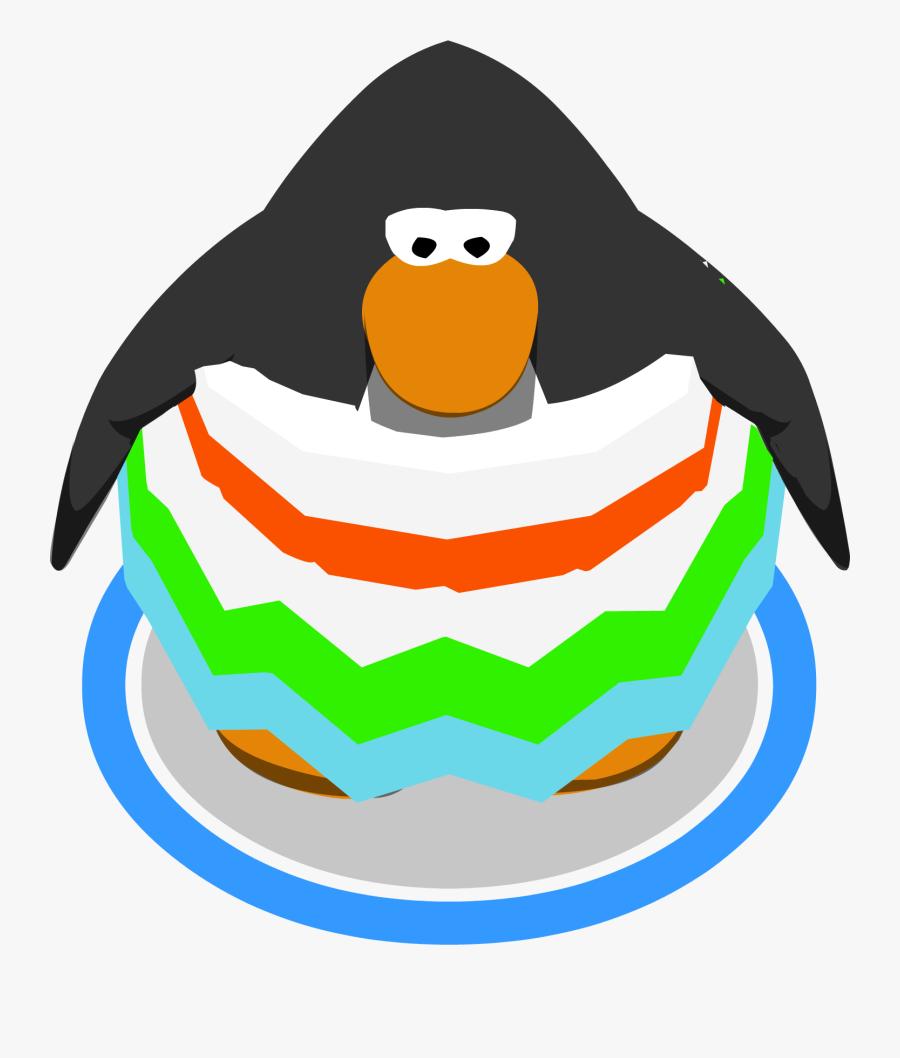 Snow Cone Ruffle Dress Ingame - Club Penguin Penguin Sprite, Transparent Clipart