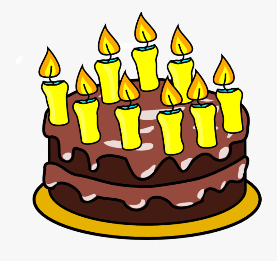 Free Birthday Cake Clip Art Clipart Images - Birthday Cake 9 Candles, Transparent Clipart