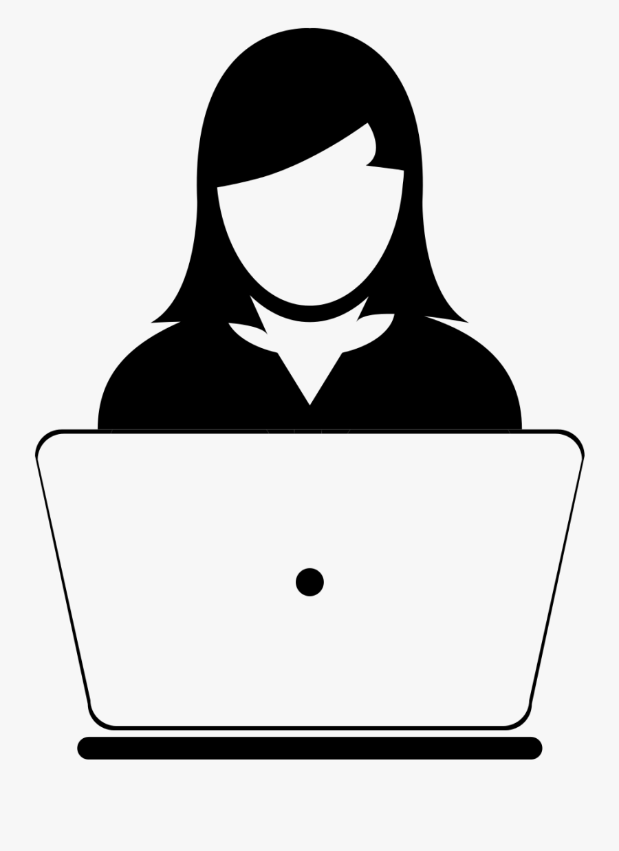 Computer Users Clipart - Female User Icon, Transparent Clipart