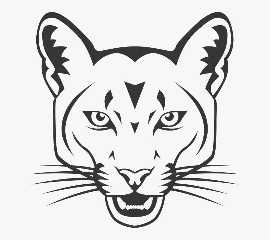 Mountain Lion Outline – Pack outline symbols head of wild animal.