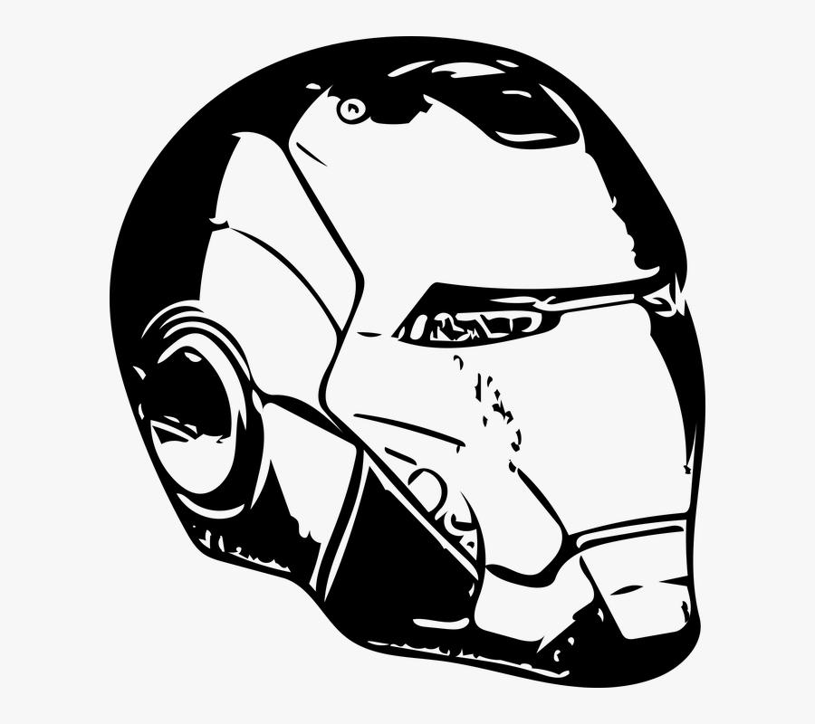 Iron Man, Iron, Man, Tony Stark, Stark - Iron Man Mask Vector, Transparent Clipart