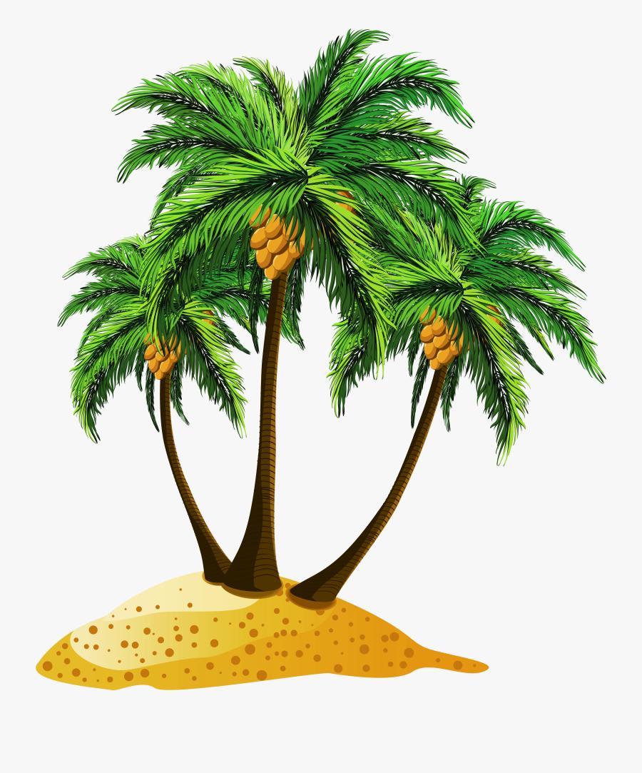 Palm Tree Beach Png, Transparent Clipart