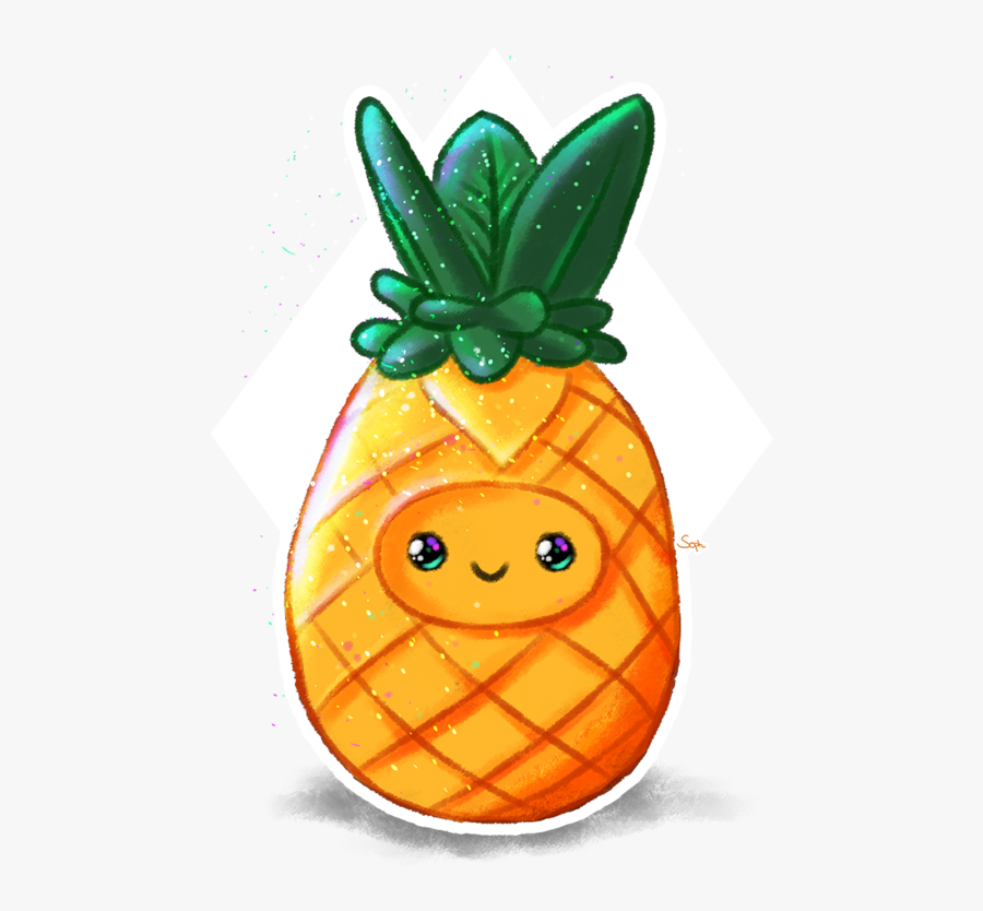 Cute Pineapple By Soph - Cute Pineapple Clipart Png, Transparent Clipart