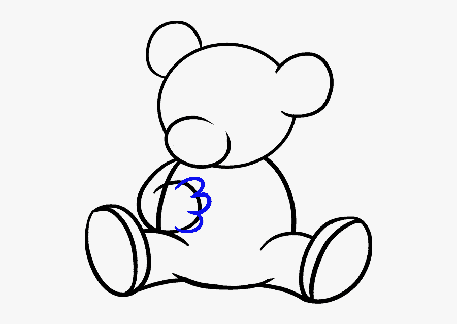 Bear Clipart Easy - Cartoon Bear How To Draw, Transparent Clipart