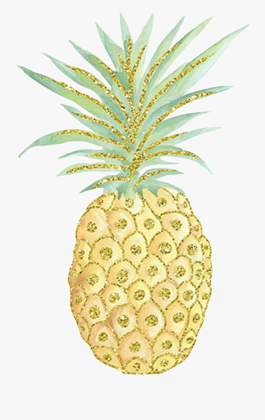 Pineapple Clipart Glitter, Transparent Clipart