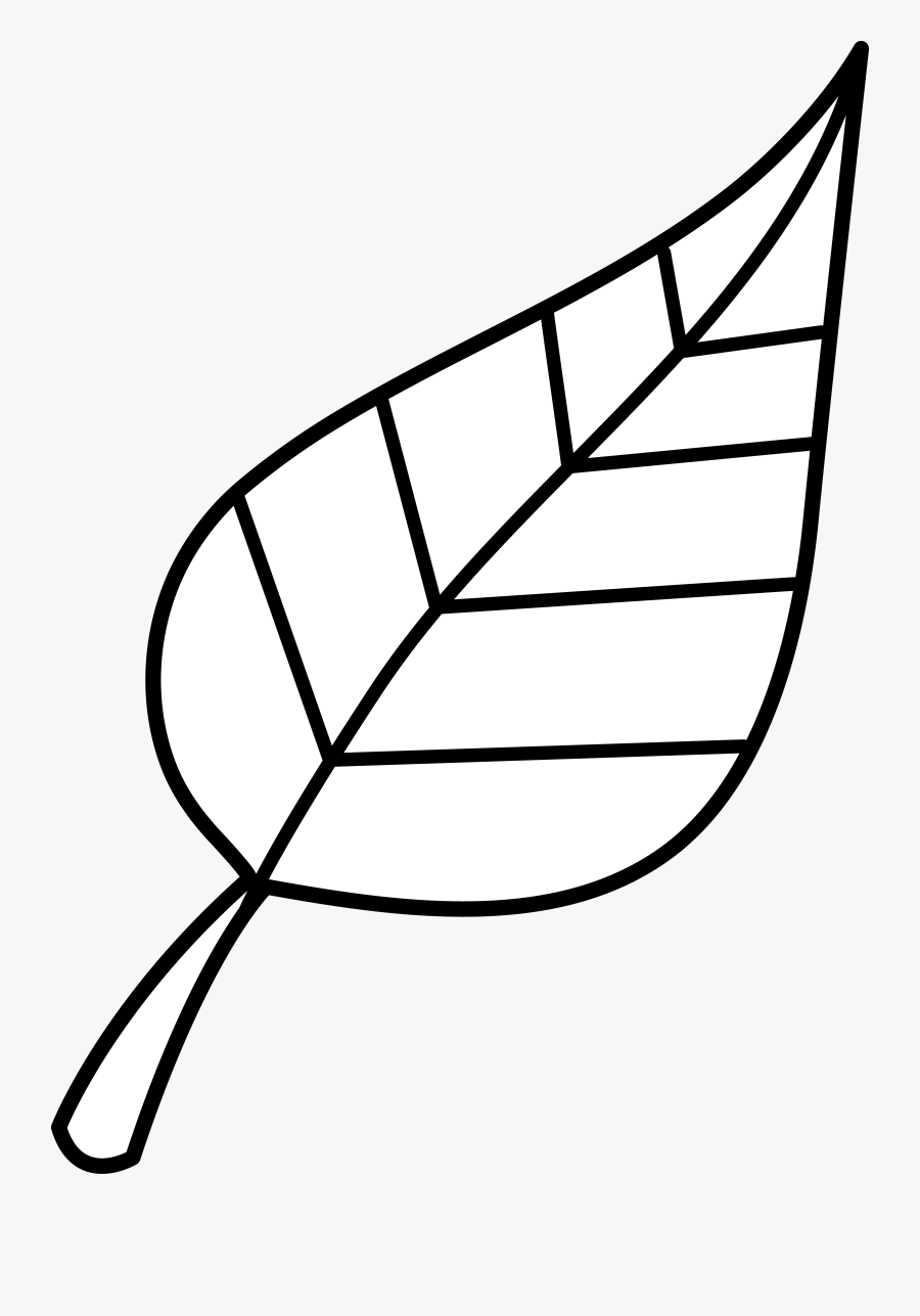 Fall Leaves Outline Clipart - Leaf Clipart Black And White, Transparent Clipart