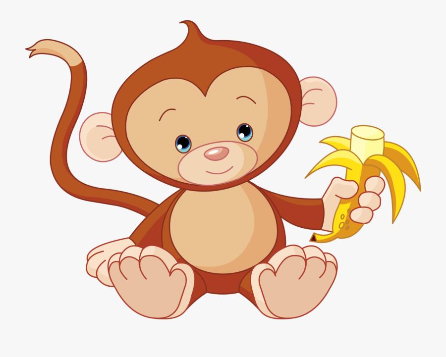 Monkey Clipart Transparent Background - Clipart Monkey Eating Banana, Transparent Clipart