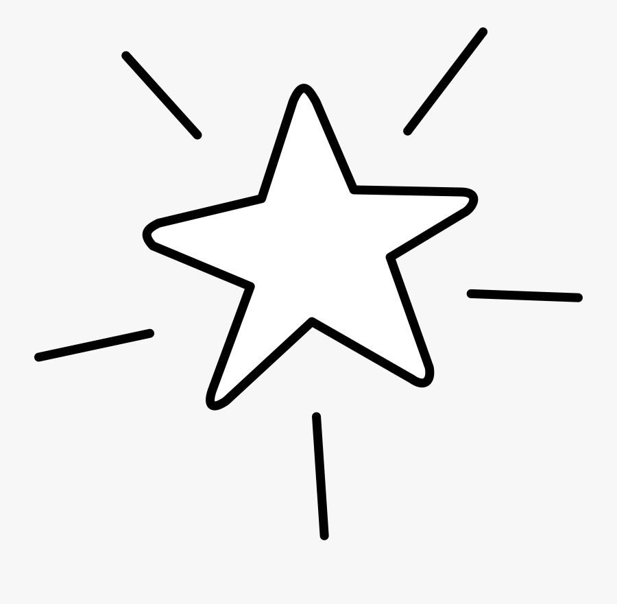 Clip Art Shiny Star Clipart - Star Clipart Black And White Transparent, Transparent Clipart