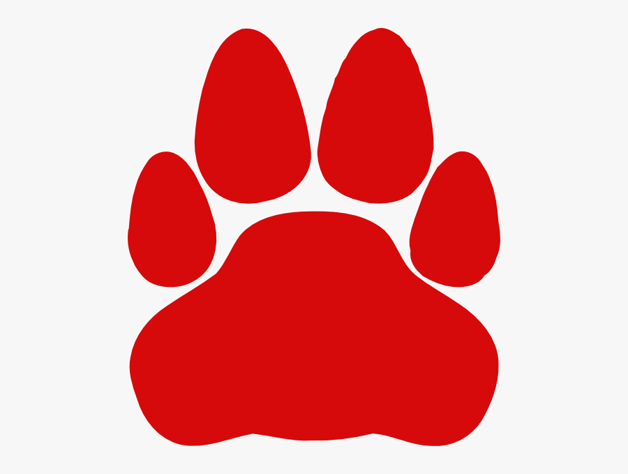 Cat Paw Print Clipart - Red Cat Paw Print, Transparent Clipart
