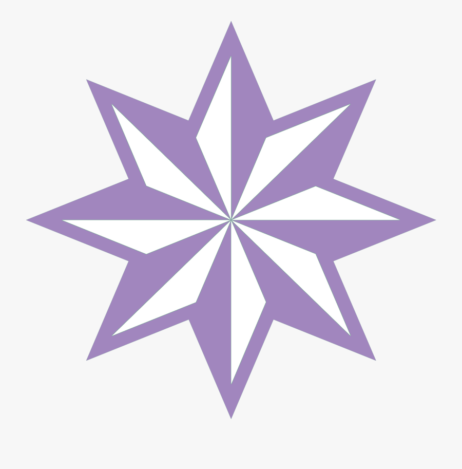 Transparent Purple Star Png - 8 Pointed Star Vector, Transparent Clipart