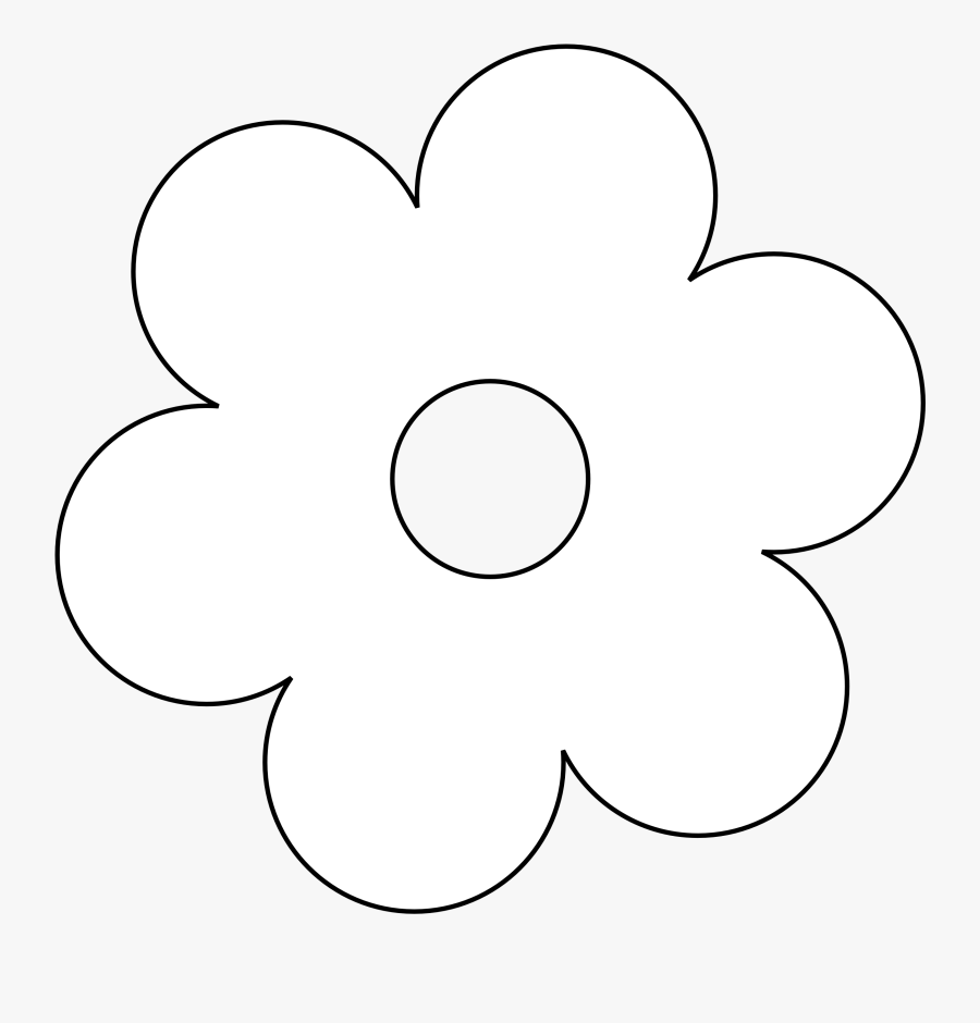 Flower Black And White Flower Black And White Flowers - White Flower Clipart Png, Transparent Clipart