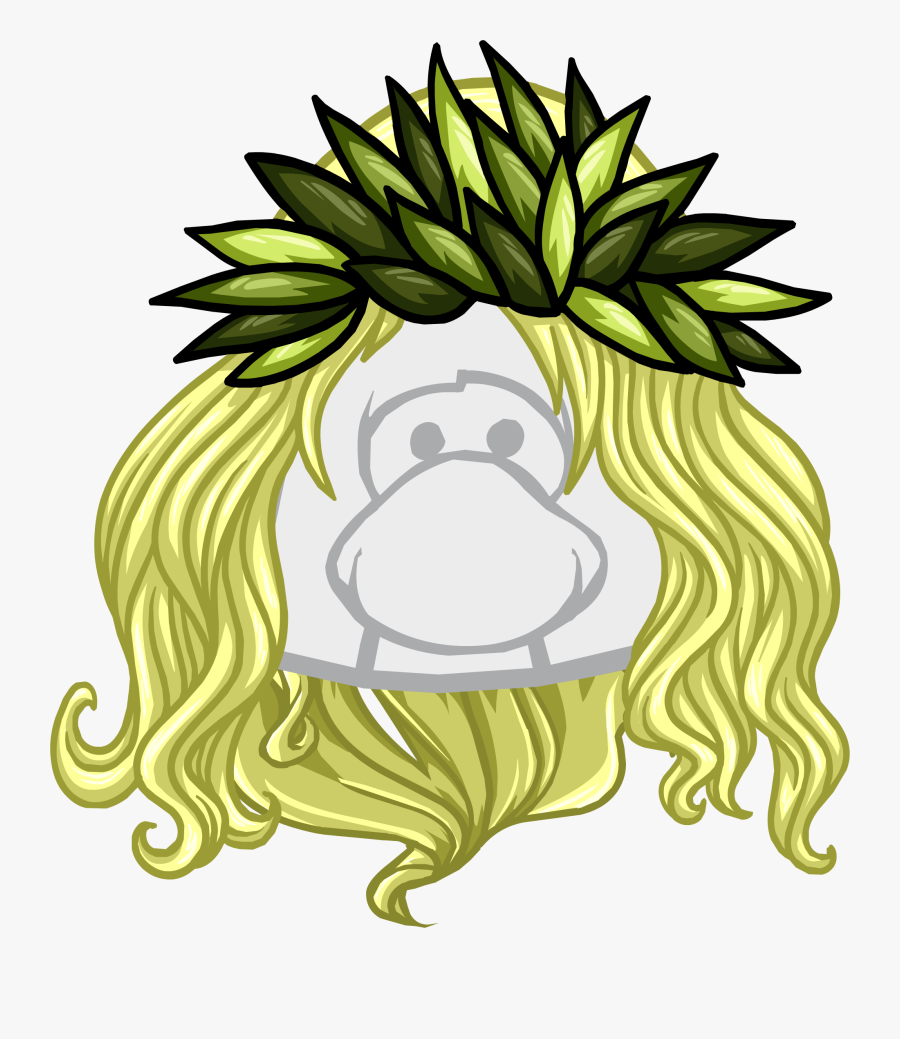 The Pineapple Crown - Blonde Wigs Club Penguin, Transparent Clipart
