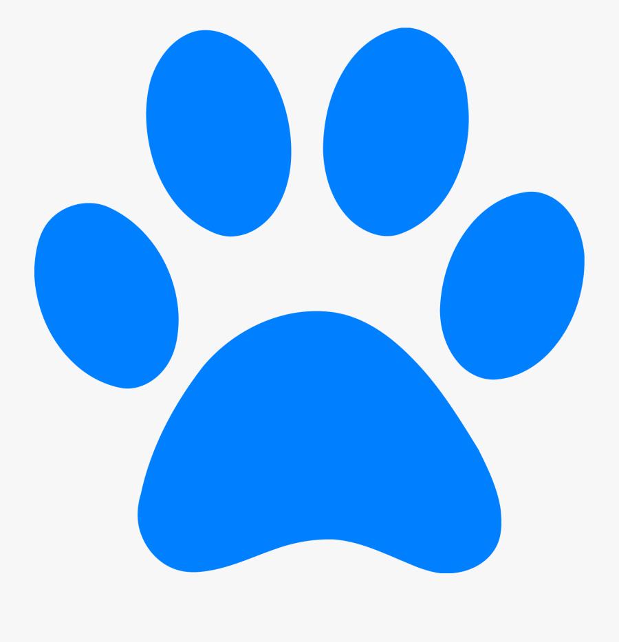 Paw Print Dog Free Wildcat Clip Art Pawprint Blues - Blue Dog Paw Print, Transparent Clipart