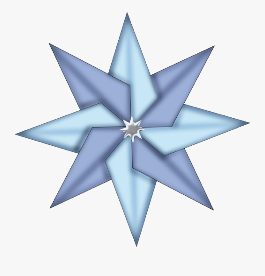 Christmas Star Download Clip - Blue Christmas Star Clipart, Transparent Clipart