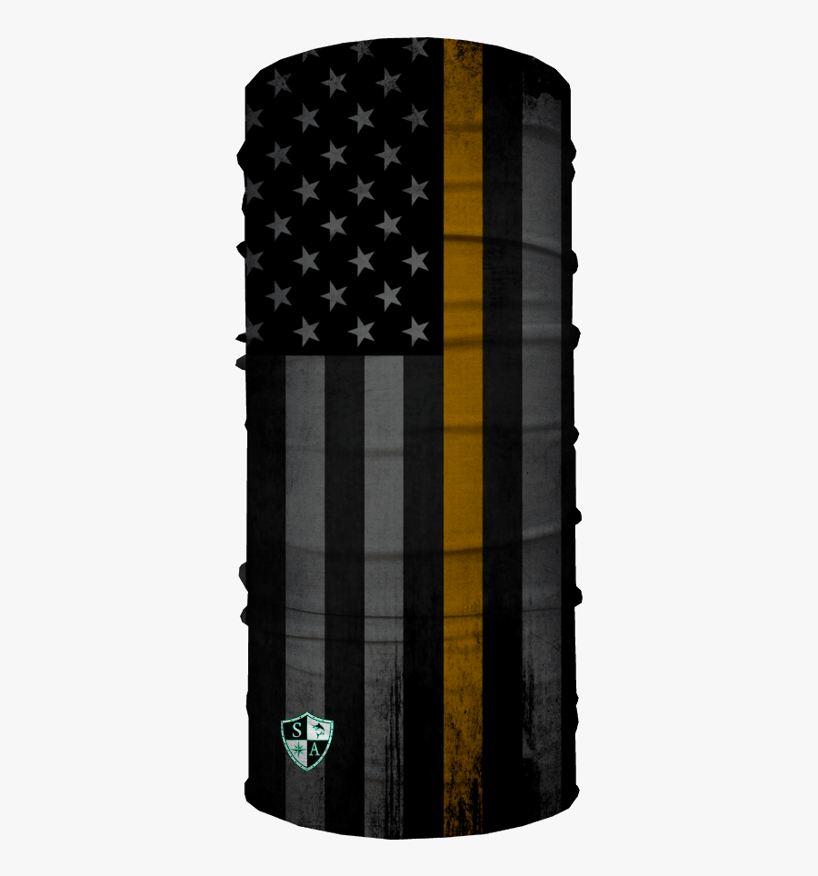 Thin Gold Line Flag - Blackout American Flag, Transparent Clipart