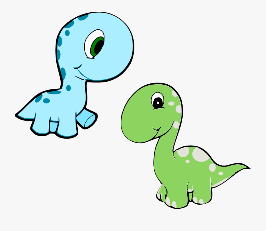 Dinosaur Reading A Book Clipart - Cute Cartoon Baby Dinosaurs, Transparent Clipart