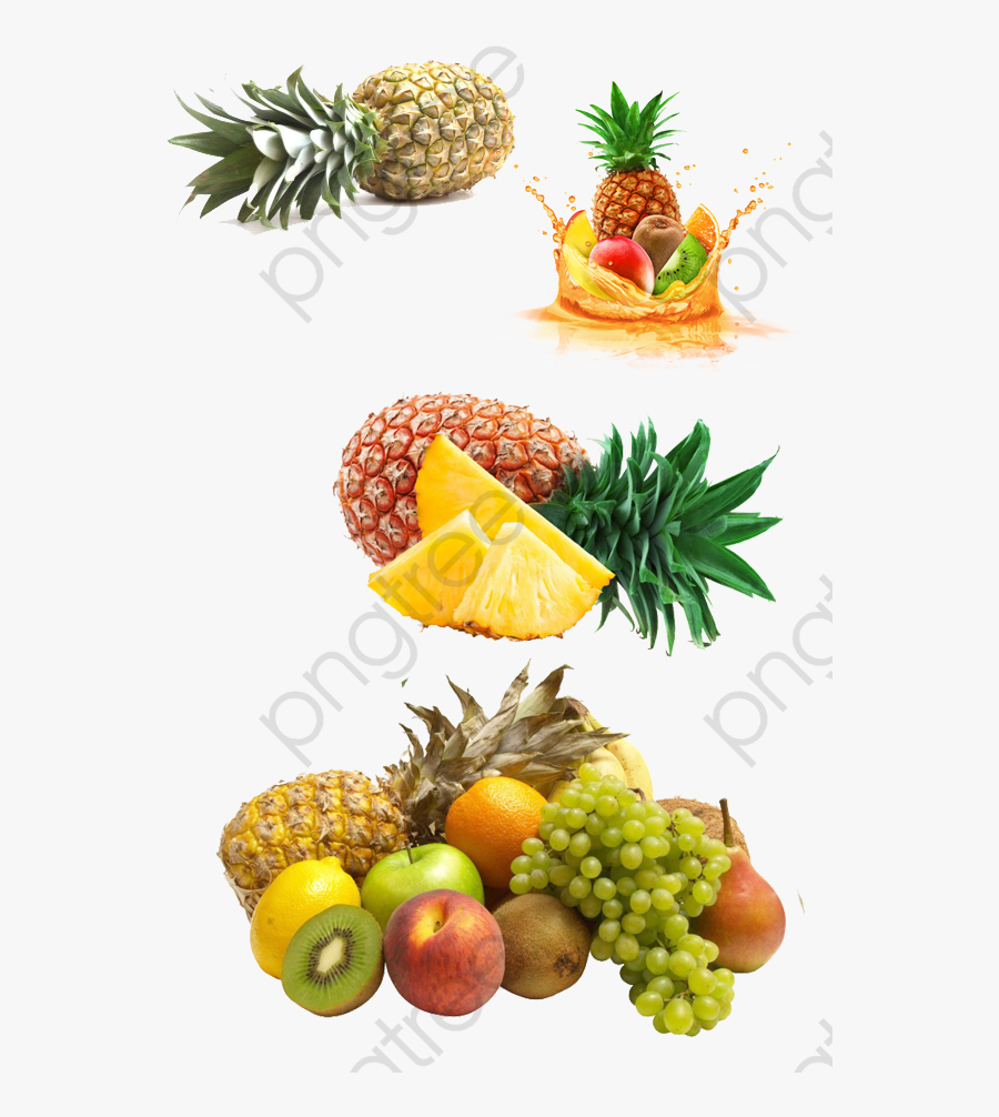 Tropical Clipart Pineapple - Passion Fruit And Pineapple, Transparent Clipart
