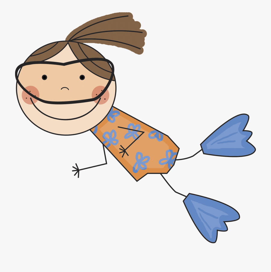 Girl Clipart Swimming - Girl Swimming Clipart Transparent, Transparent Clipart