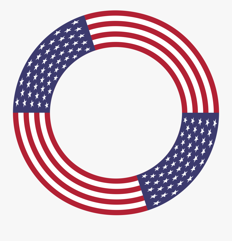 Transparent American Flag Clip Art Png - American Flag Circle Png, Transparent Clipart