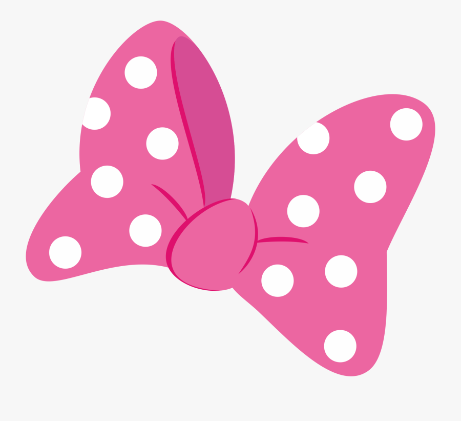 Minnie Mouse Pink Bow, Transparent Clipart